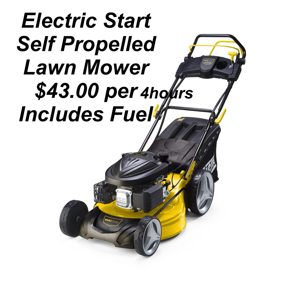 Hire Self Propelled electric start mowers $43.00 for 4 hours from south Perth hire